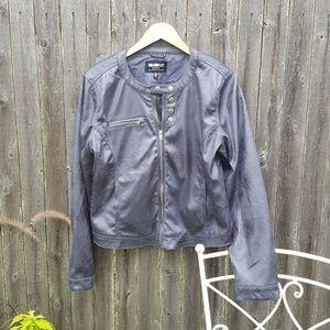 William Rast Faux Leather Moto Jacket XL